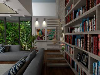 Living- Proyecto- Imágenes/Renders: Livings de estilo  por YB Arquitectura