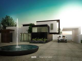 Casa Tepoztlan Morelos: Casas unifamiliares de estilo  por ECM arquitectura