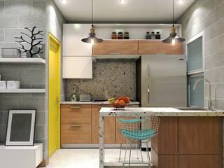 DEPARTAMENTOS C-4 Cocinas modernas de CREA arquitectos Moderno