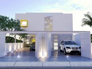 DEPARTAMENTOS C-4 Estudios y despachos modernos de CREA arquitectos Moderno