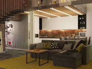 Двухуровневая квартира в стиле Лофт : Маленькие кухни в . Автор – Новые Традиции,