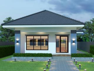 บริษัท พี นัมเบอร์วัน ดีไซน์ แอนด์ คอนสตรัคชั่น จำกัด Casas de estilo ecléctico