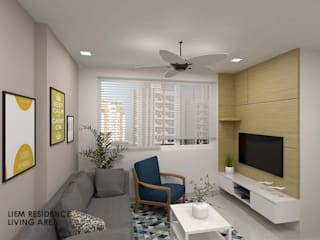 Swish Design Works Minimalist living room