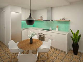 Grupo Inventia Cocinas equipadas Azulejos Turquesa