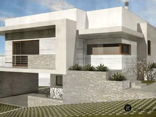 ATELIER OPEN ® - Arquitetura e Engenharia Villa Stahlbeton Weiß