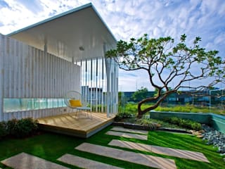 景觀設計 | 白色方盒建築: 現代  by 大桓設計顧問有限公司, 現代風