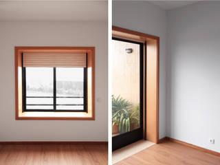 Puertas y ventanas minimalistas de PortoHistórica Construções SA Minimalista