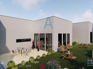 fachada: Casas campestres de estilo  por ANKORA ARQUITECTOS