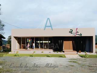 fachada: Estudios y despachos de estilo  por ANKORA ARQUITECTOS