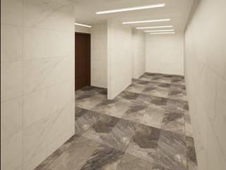 Diseño y construcción de baños públicos Centros comerciales de estilo minimalista de Arqmando taller de arquitectura Minimalista