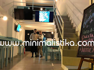 Minimalistika.com Office spaces & stores Chipboard Grey