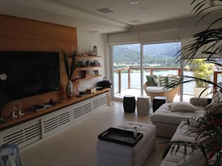 Apartamento Lagoa Salas de estar modernas por Guetta & Niquet Arquitetura Moderno