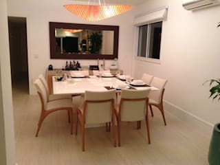 Apartamento Lagoa Salas de jantar modernas por Guetta & Niquet Arquitetura Moderno