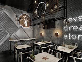WALL INTERIOR DESIGN – THE ONE RESTORAN PROJESİ:  tarz Yeme & İçme