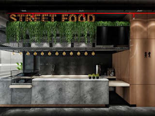 THE ONE RESTORAN PROJESİ WALL INTERIOR DESIGN Modern