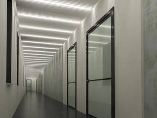 Modern Corridor, Hallway and Staircase by Landos Modern