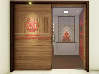 Commercial Interior (Shree Ganesh Co-Operative Credit Society Ltd.):  Commercial Spaces by CAVE - Architecture | Interior Design