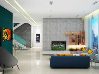 Mr. Chandrahasa :  Living room by MK designs