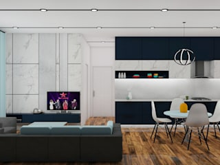 Mr. Sandeep:  Living room by MK designs