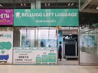 ร้าน Bellugg สาขาสนามบินสุวรรณภูมิ:  อาคารสำนักงาน ร้านค้า by PANI CREAT STUDIO CO., LTD.