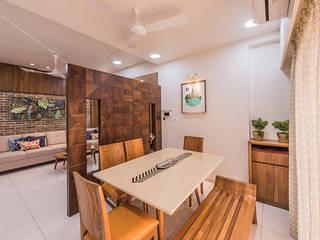 Gandhi residence Inklets studio Modern dining room Wood Wood effect
