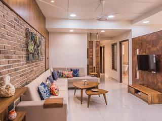 Gandhi residence Inklets studio Modern living room Wood Wood effect