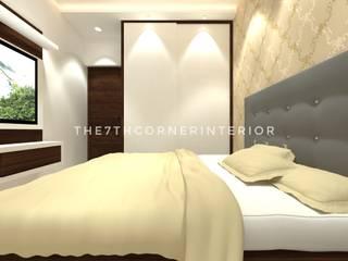 Residence in Kandivali East:  Small bedroom by The 7th Corner - Interior Designer