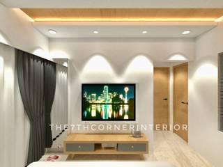 Residence in Kandivali East:  Sliding doors by The 7th Corner - Interior Designer