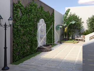Modern Classic Landscape Design :  Garden by Comelite Architecture, Structure and Interior Design