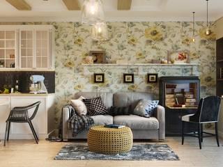 Функциональный и уютный интерьер: Гостиная в . Автор – Архитектурно-дизайнерское бюро «SVETLOVO»