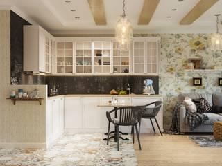 Функциональный и уютный интерьер: Кухни в . Автор – Архитектурно-дизайнерское бюро «SVETLOVO»