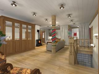 Русский стиль 2 этаж от Архитектурная студия 'Арт-Н' Кантри