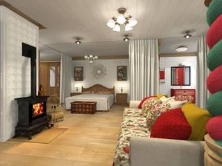 Русский стиль 2 этаж Спальня в стиле кантри от Архитектурная студия 'Арт-Н' Кантри