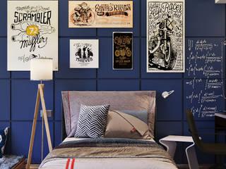 Дизайн комнаты для подростка: Спальни в . Автор – Архитектурно-дизайнерское бюро «SVETLOVO»