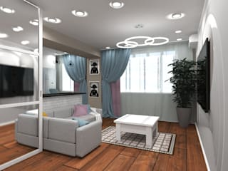 Living room by lux.Plus, Eclectic