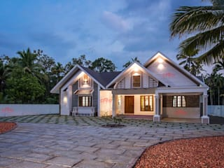 Home Construction Companies in Kerala Asian style houses by CreoHomes Pvt Ltd Asian