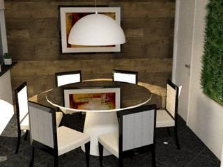 cozinha de escritório - Casa Comercial: Salas de jantar  por Silvana Lima e UrbanaDI