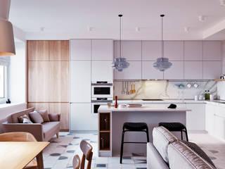 SMOLNY: Гостиная в . Автор – Архитектурная студия 'АВТОР'