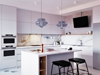 SMOLNY: Встроенные кухни в . Автор – Архитектурная студия 'АВТОР'