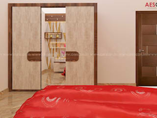 Asian style bedroom by Aescon Builders and Architects Asian