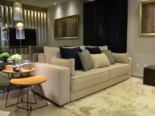 Apartamento OSV Salas de estar modernas por Bordin+Braz Arquitetura Moderno