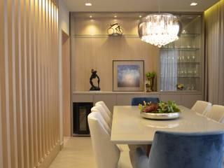 Apartamento OSV Salas de jantar modernas por Bordin+Braz Arquitetura Moderno