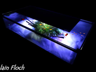 Table basse aquarium EVASION 30 LED sans fil par VPA DESIGN Moderne