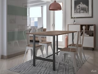 Dining room by Santoro Design Render, Modern