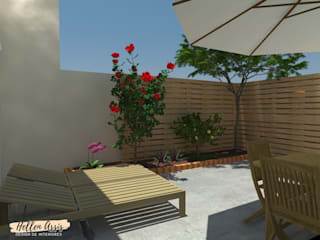 Área Gourmet - DIY: Jardins zen  por Hellen Assis - Designer de Interiores