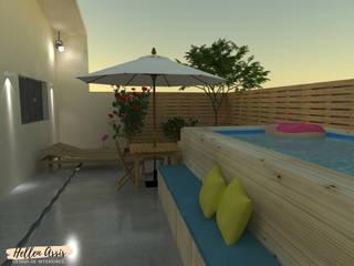 Área Gourmet - DIY: Piscinas de jardim  por Hellen Assis - Designer de Interiores