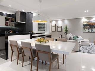 ห้องทานข้าว โดย Simone Martini Arquitetura,