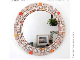 Espejo Coral Living:  de estilo  por GALIZIA V Mosaicos
