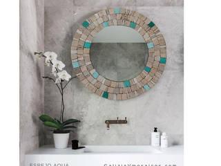 Espejo Aqua:  de estilo  por GALIZIA V Mosaicos