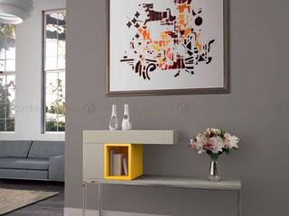 Decordesign Interiores Corridor, hallway & stairsAccessories & decoration Chipboard Yellow